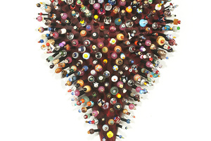 Heart for all the kids, Resin Foam, buna, glass beads. 24 in High