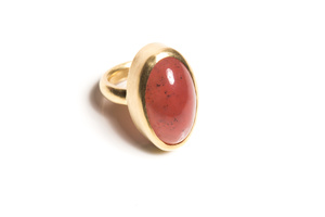 Grossular garnet ring in 18 karat yellow gold