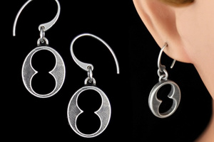 Skeleton Key Head Earrings