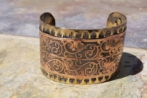 etched/riveted cuff