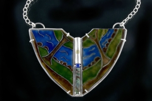 The Four Elements of Nature Shield Necklace